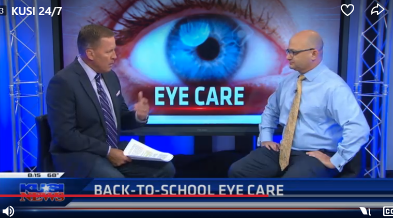 Dr. Ben-Moshe on KUSI Discussing Eye Exams for Kids